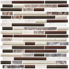 12 in. x 12 in. Electroplated Glass Mosaic Tile - 8mm Thickness (DK-MG4898198R2)