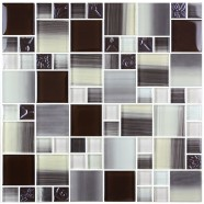 12 in. x 12 in. Electroplated Glass Mosaic Tile - 8mm Thickness (S0438A2)